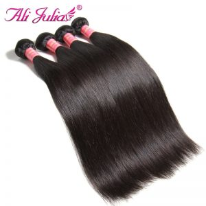 Ali Julia Hair One Piece Malaysian Straight Hair Weave Natural Color 8''-30'' Double Machine Weft Human Non Remy Hair Extension