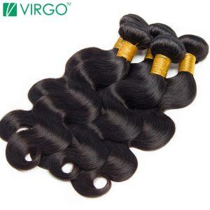 Volys Virgo Hair Malaysian Hair Body Wave Human Hair Weave Bundles Natural Black 1 Piece/Lot Non Remy Can Buy 3/4 Bundles