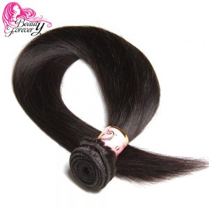 Beauty Forever Malaysian Straight Hair Weaves 1 Bundle Non Remy Human Hair Extensions Natural Color Free Shipping