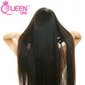 Queen like Hair Products 1 Piece 100% Natural Human Hair Weave Bundles 8-28 Inch Non Remy Natural Color Malaysian Straight Hair