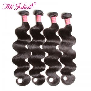 Ali Julia Hair Malaysian Body Wave Bundles Human Hair Weave 8-30 inches Hair Extension Non Remy Can Buy 3 or 4 Bundles and Mixed