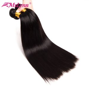 "Mslynn Malaysian Straight Hair Human Hair Weave Bundles Natural Color 10""-28"" Non Remy Hair Extension 1PC Can Be Dyed"