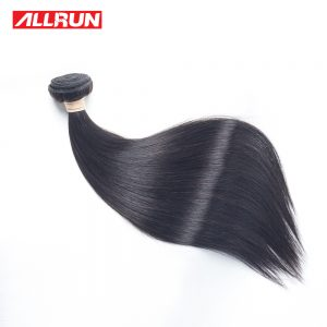 "ALLRUN Malaysian Straight Human Hair Bundles 100% Natural Back Shedding Free Non Remy Hair Weaving 1PC Can Be Dyed 8""-28"""