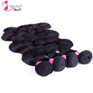 Ms Cat Hair Malaysian Body Wave Hair Bundles Non Remy Hair 100% Human Hair Weave Natural Color 8 Inches - 26Inches Can Order 4PC