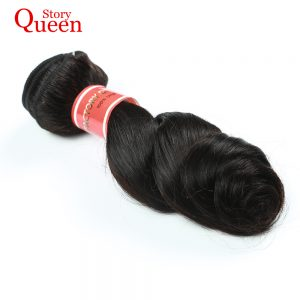 Queen Story Indian Loose Wave Bundles Remy Hair Natural Color 10-28inch 100% Human Hair Weave Free Shipping
