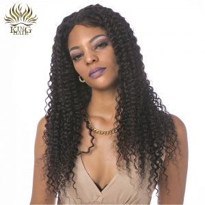 King hair Indian Kinky Curly Hair Bundles Natural Color 100% Human Hair Weave 12 to 26 Remy Hair 1 pcs Can Be Dyed Free Shipping