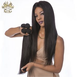 """King hair Indian straignt hair Remy Human Hair weave 8""""-30"""" Double Weft Hair Weaving Natural color 1pc no shedding can be dyed"""