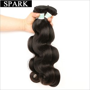 Spark Hair Weaving Indian Body Wave Human Hair Weave Bundles 1 Piece Remy Hair Extensions 8-26 inch Can Be Dyed Free Shipping