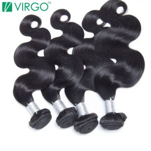 Virgo Hair Company Raw Indian Body Wave Human Hair Weave Bundles 1 Pc Fuller Hair Extensions 100% Natural Remy Hair Last Longer