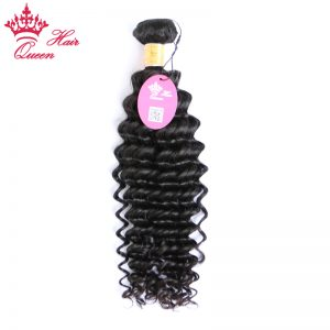 "Queen Hair Products Indian Virgin Hair Deep Wave 100% Unprocessed Human Hair Extensions 14""-22"" Natural Color Free Shipping"