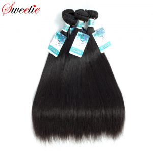 Sweetie Raw Indian Virgin Hair Straight 100% Human Hair Extensions 100g 8-30 Inch 1 Piece Only Natural Black Free Shipping