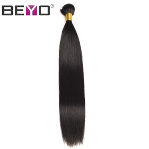 Beyo Straight Hair Raw Indian Hair 10inch-26inch 100% Human Hair Weave Bundles Natural Color 1PCS Free Shipping Non-remy Hair