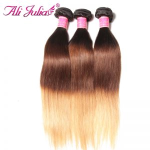 Ali Julia Indian Ombre Straight Hair Bundles T1B427 16-26 Inches Non-remy Human Hair Weave 1 Piece Free Shipping Hair Exention