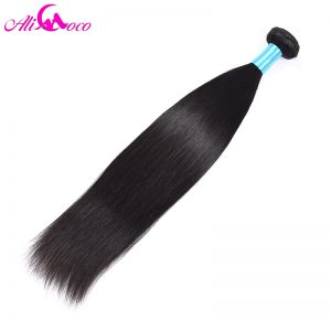 Ali Coco Hair Products 10-28 1 Piece Human Hair Weave Non Remy Natural Color Indian Straight Hair Weave Bundles