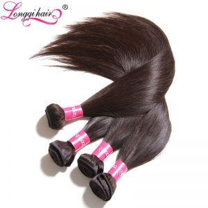 Longqi Hair Indian Straight Hair Bundles Non-Remy Hair Natural Black Color 8''-30'' 100% Human Hair Extensions 1 Piece Only