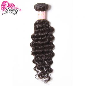 Beauty Forever Indian Hair Deep Wave Human Hair Weave Bundles Non Remy 1 Piece Only Natural Color 10-26inch Free Shipping