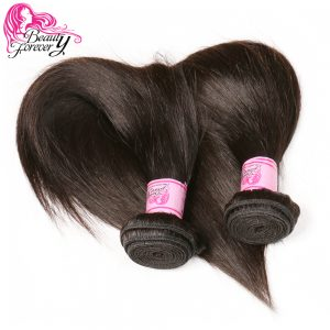 Beauty Forever Indian Straight Human Hair Weave Bundles 100% Non Remy Hair Weaving Natural Color Free shipping