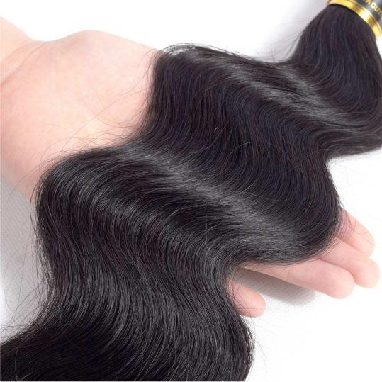 Indian Body Wave Bundles 100% Human Hair Bundles 1 Pcs Non-Remy Hair Extensions Weave 8-28inch Can Mix Length QThair Fast  Ship