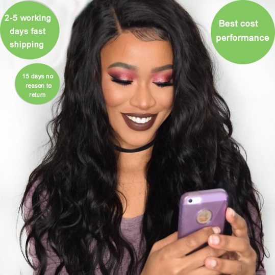 Virgo Raw Indian Body Wave Human Hair Weave Bundles 1 Piece Non Remy Hair Bundle Hair Extensions 1B Natural Black Can Be Dyed