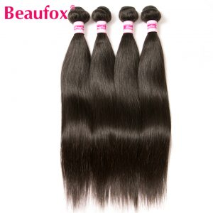 Beaufox Indian Straight Hair Bundles 100% Human Hair Bundles Extensions 8''-28'' Can Buy 3 or 4 Bundles Non-remy Hair