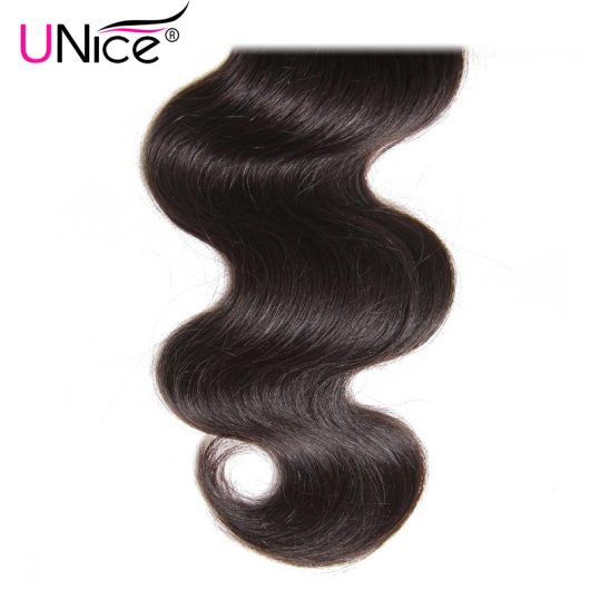 UNice Hair Company Indian Hair Body Wave Human Hair Bundles 1 Piece Non Remy Hair Extensions Weave 8-30inch Can Mix Any Length