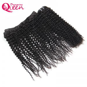 Mongolian Kinky Curly Hair Weave Bundles 100% Human Remy Hair Dreaming Queen Hair Weaving Extensions Natural Color Free Shipping