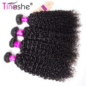 Tinashe Hair Mongolian Kinky Curly Virgin Hair 1 Piece 100% Human Hair Weave Bundles 10-28 Inch Natural Color Hair Weft