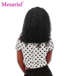 Mesariel Mongolian Hair 10-28inch Non-remy Hair Natural Black Color 100 Human Hair Weave Kinky Curly Hair Bundles