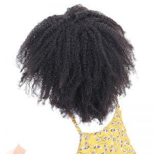 Mongolian Afro Kinky Curly Weave Human Hair Bundles Honey Queen Hair Products Non Remy Natural Color Hair Weaving Extensions