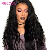 Recool 360 Lace Frontal Wig With Baby Hair Brazilian Body Wave Can Match Bundles 130% Density Ear to Ear Lace Frontal Closure