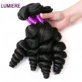 Lumiere Hair Loose Wave Peruvian Hair Weave Bundles 100% Remy Human Hair Extensions Natural Color One Piece Free Shipping