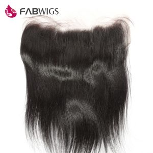 "Fabwigs Peruvian Silky Straight 13x6 Lace Frontal Bleached Knots with Baby Hair 10-20"" 100% Human Remy Hair Piece Free shipping"