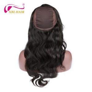 "XBL Hair 360 Lace Frontal with Wig Cap Free Part Body Wave Peruvian Human Hair Remy Hair 12-20"" Free Shipping"