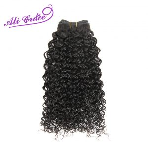 ALI GRACE HAIR Hair Peruvian Kinky Curly Weave Human Hair 1 Piece Natural Color 100% Remy Hair Bundles 10-28 Inch