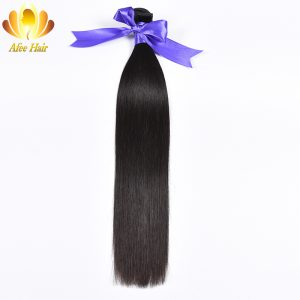Ali Afee Hair Products Peruvian Straight Hair Only 1 Pc Natural Black Remy Human Hair Extension 8''-30''No Tangling No Shedding
