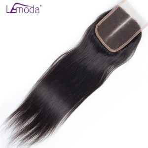 Le Moda Lace Closure Malaysian Straight Hair Human Hair Closure Middle Part 1pc/lot Remy Hair