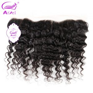Ariel Malaysian Deep Wave Frontal Closure 13*4 Natural Color Remy Human Hair Closure Free Shipping