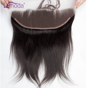 Malaysian Straight Hair Lace Frontal Closure With Baby Hair 1pc 13x4 Full Lace Human Hair Frontal Knots Bleached Remy Hair