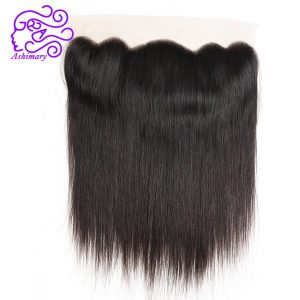 Ashimary Malaysian Straight Hair Lace Frontal Closure 13*4 Ear to Ear Malaysian Remy Hair Closure Can Be Bleached Free Shipping