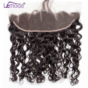 13x4 Ear to Ear Malaysian Water Wave Lace Frontal Closure Pre Plucked With Baby Hair Le Moda Remy Hair Frontal Free Shipping
