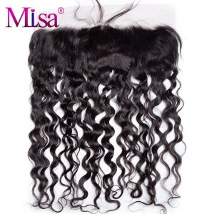 Mi Lisa Water Wave 13''x4'' Lace Frontal Closure With Baby Hair Hand Tied Swiss Lace Remy Hair Free Shipping 100% Human Hair