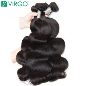 VOLYS Virgo Hair Malaysian Body Wave Human Hair Weave Bundles Natural Black Remy Mixed Length 10inch-28inch Can Buy 3/4 Bundles