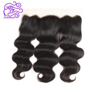 Ashimary Malaysian Body Wave 13x4Inchs Lace Frontal Closure Remy Hair Free Part Natural Color Human Hair Closure Free Shipping