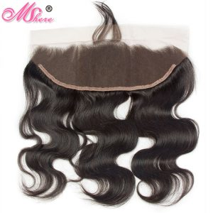 Remy Hair Malaysian Body Wave 13*4 inches lace frontal pre plucked Mshere Ear to Ear Closure with Baby Hair Free Part
