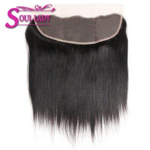 Soul Lady 13*4 Ear To Ear Lace Frontal Malaysian Straight Hair Free Part Bleached Knots Lace Closure 100% Remy Human Hair