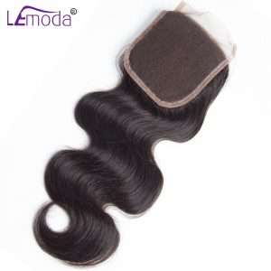 "Malaysian Body Wave Lace Closure 130% Density Hand Tied Human Hair Closure Free Part 4""x4"" Closures 100% Remy Hair Le Moda hair"