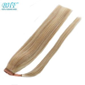 BHF human hair ponytail Indian Remy ponytail hair extensions 120g 20inch clip in wig