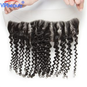13x4 ear to ear lace frontal closure Indian deep curly vipbeauty remy hair 12-20 inch