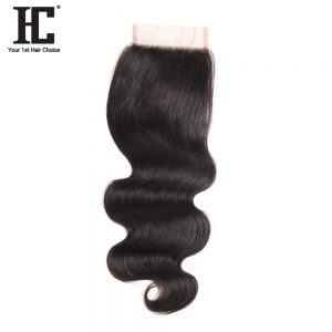 HC Hair Products 100% Remy Body Wave Human Hair Free Part With Baby Hair 130% Density 8-18inch Natural Color Can Be Dyed
