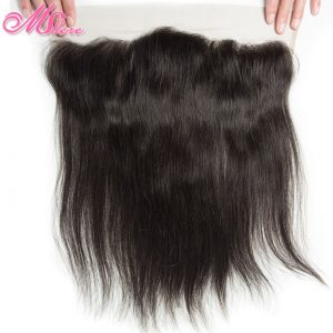 Pre-plucked 13*4 Ear To Ear Lace Frontal With Baby Hair Indian Straight Hair Remy Hair 1b# Mshere Human Hair Full Lace Closure